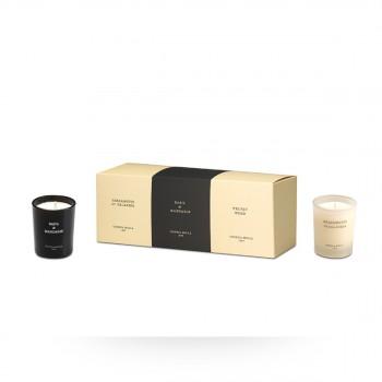 小罐香氛蜡烛套装 3颗装 里亚佛手柑+罗勒柑橘+木香天鹅绒