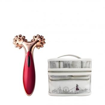 黎珐 点压面部专用美容仪(珠光红)套装