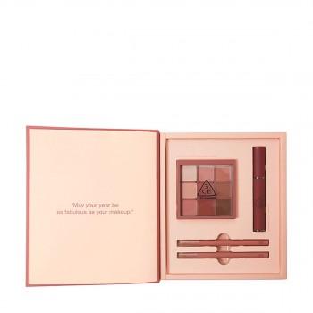 三熹玉 假日礼盒1(干枯玫瑰+红梨色)