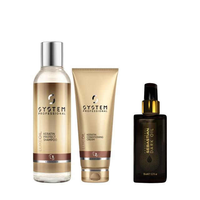德研丝秀发焕能角蛋白养护洁发乳&护发乳惠选套装