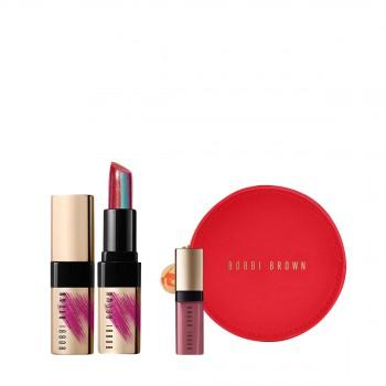 芭比波朗纯色奢金镜光唇膏-绝色红